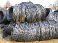 Rolled wire from carbon steel