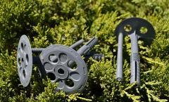 Тарельчатый дюбель Код:KI 10х90 ECO\GREY для крепления пенопласта с пластиковым гвоздем серый (производители)