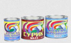 Эмали ПФ-115, ПФ-266, масляные краски МА-15, грунт
