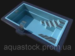 Стекловолоконный композитный бассейн Lagos Sol-10 9,8х 3,70х 1,55м