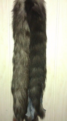 Skin of black fox