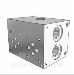 Плита гидравлическая монтажная 2 секции DN06