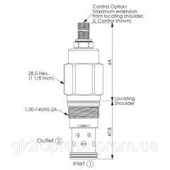 Клапан патрон RD3A25CL RD1-14UNS-2A...