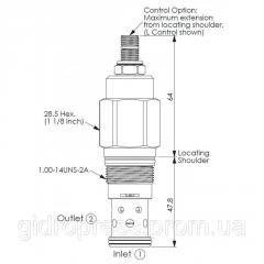 Клапан патрон RD3A25WL RD1-14UNS-2A...