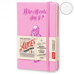 Блокнот Moleskine Alice's Adventures in Wonderland маленький розовый LEAL01MM710