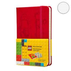 Блокнот Moleskine Lego-14 маленький красный LELE14MM710