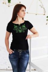 Вышитая женская футболка Весна А-5