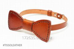 Tie - a butterfly from genuine leather