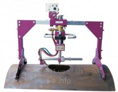 Machine for oxy-fuel cutting holes in the pipes and the shell NC-600D