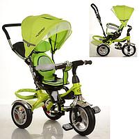 Велосипед M 3199-4HA, 1шт, три кол.рез, 12/10, колясочн.,поворот,муз,свет,торм,сумка,Зеленый