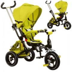 Велосипед M 3205A-3, 1шт, три кол.резина, 12/10, быстросъем.кол./руль,сумка,Зеленый