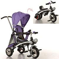 Велосипед M 3212A-2, 1шт, три кол.резина,трансформер, беговел, поворот,быстросъем.колеса,фиолетовый