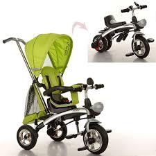 Велосипед M 3212A-3, 1шт, три кол.резина,трансформер, беговел, поворот,быстросъем.колеса,Зеленый