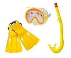 Набор для плавания 55954 (6шт)(трубка 55922, маска 55911,ласты 55936), (3-8 лет) желтый (шт.)