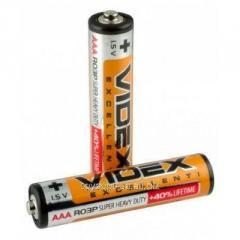 Батарейка солевая ААА R03P Videx шринк 4 шт (шт.)