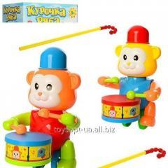 Каталка 0353 (72шт) на палке40см,обезьянка22см,стучит в барабан,2цвета,в кульке,22-18-12см (шт.)
