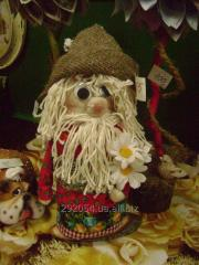 Natural, textile dolls of handwork for gifts.