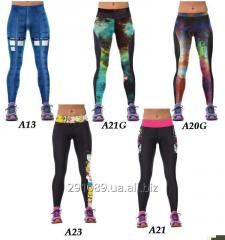 Leggings sports 3D drawing of a coloring