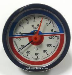 Термоманометр горизонтальный (боковой) Aqua World XF346