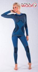 Термоштаны спортивные женские HASTER ALPACA WOOL original Польша, синие