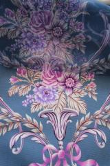 Тюль с цветочным рисунком, 30% вискоза, 70%