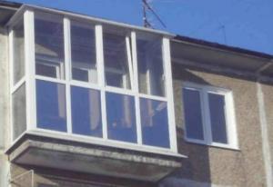 Балконы металлопластиковые французского вида.