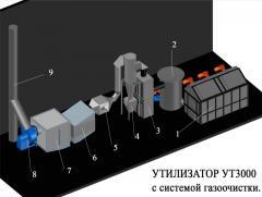 Furnaces are gas-generating utilizatorny