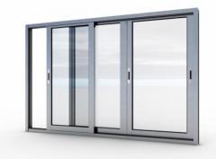 Алюминиевые окна, двери, раздвижные балконные