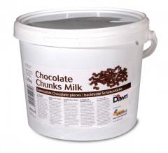 El chocolate de leche en los trozos / Chocolate Chunks Milk