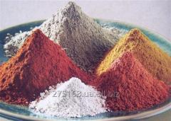 점토 (화장품 및 의약품) 파란색, 녹색, 흰색, 노란색, 빨간색, 회색
