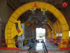 Вагоноопрокидыватель роторный стационарный ВРС-125  для механизации разгрузки большегрузных железнодорожных полувагонов грузоподъемностью до 125 тн, пр-во Днепротяжмаш. Украина
