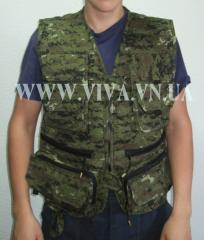 The vest is universal, vest for the hunter from