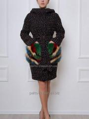 модное женское зимнее  пальто из букле Samange M 553