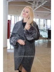 Стильное женское зимнее пальто из букле Samange M 523it.