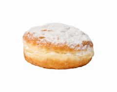 Пончик зі згущеним молоком