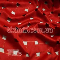 Fabric Suede streych textured (red) 6217