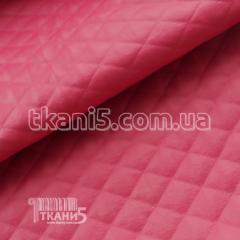 Ткань Кожзам стеганный (малиновый)
