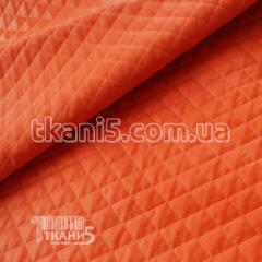Ткань Кожзам стеганный (оранжевый)