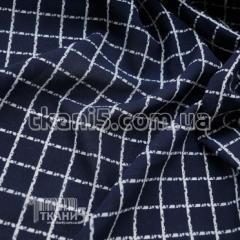 Fabric chiffon a print (a cage white on t.siny)
