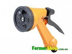 Пистолет поливочный 5 режимов пластиковый оранжевый