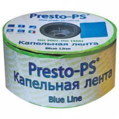 Капельная лента Presto - Blue line 1000 м, расстояние капельниц 15 cм, 7 mil  - Италия