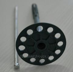 Тарельчатый дюбель-зонт с металлическим гвоздем Код:KI 10х180 FIX-M/GREY серый Фастенер Хаус