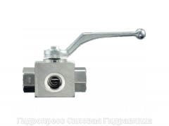 Шаровой кран 3-ходовой BK 3 L-образная форма DIN ISO 228 PTFE - FKM, Нержавеющая сталь Rubrik 13.14