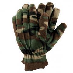 Gloves fleece camouflage Poland