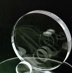 Round optical preparations and windows from