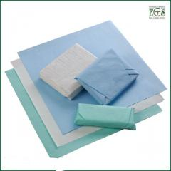 Крепований папір для стерилізації / 120х120 см, зелений, 100 шт