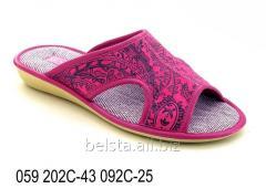 Женские тапочки 059 202С-43 092С-25