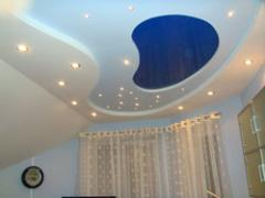Stretch ceilings two-level, a stretch ceiling, a