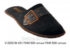 Мужские тапочки V-2202 № 431 ПНИ 500 черный ПНИ