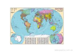 Card Political map of the world, art.: 13172-22kp